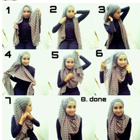 Latest Hijab Styles & Designs Tutorial with Pictures for Modern Girls 2015 (9)
