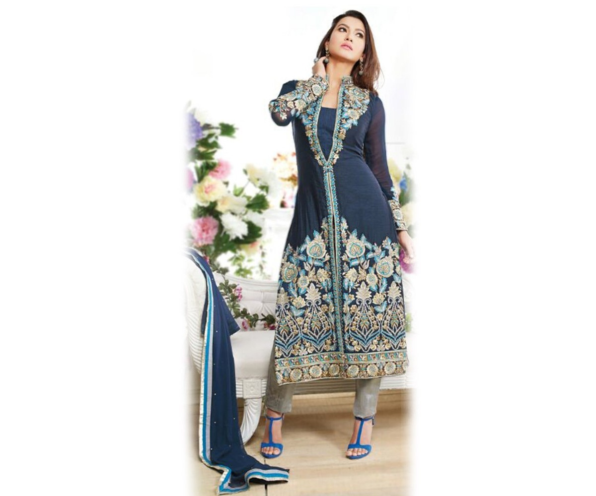 29c117eec663 New Indian Jacket Style Dresses Anarkali Suits 2016-2017 Collection