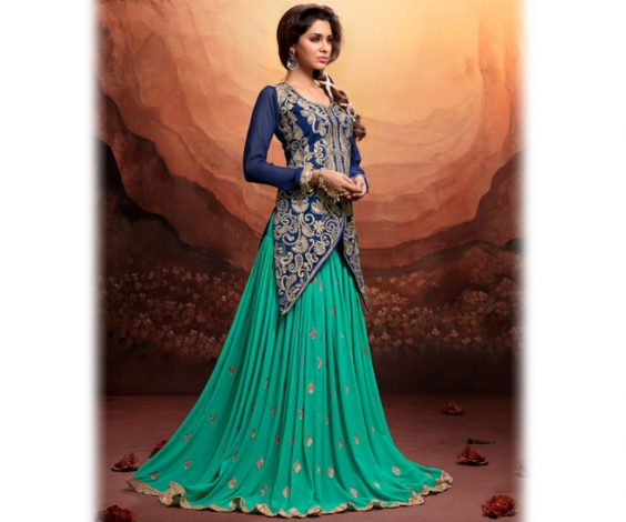 Hair Do For Indian Dressing Style: New Indian Jacket Style Dresses Anarkali Suits 2016-2017