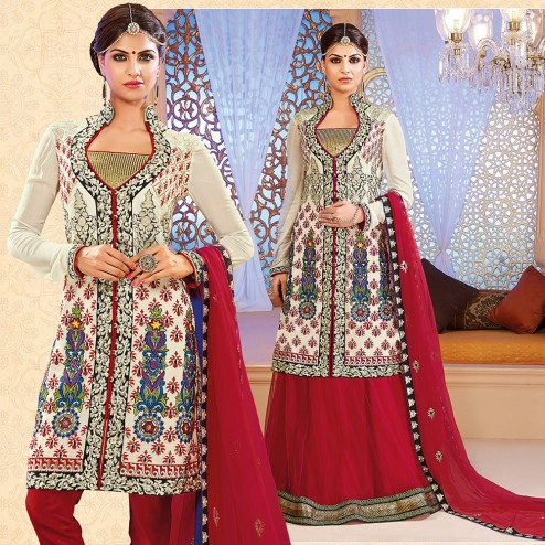 8355654bca9 Latest Indian Designer Collection Jacket Styled Dresses Anarkali Suits for Girls  2014-2015 (15)