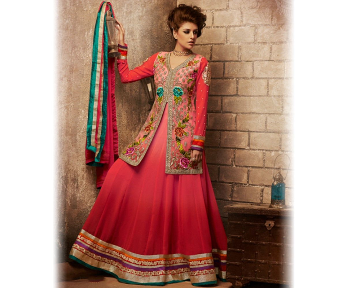 New Indian Jacket Style Dresses Anarkali Suits 2016 2017 Collection