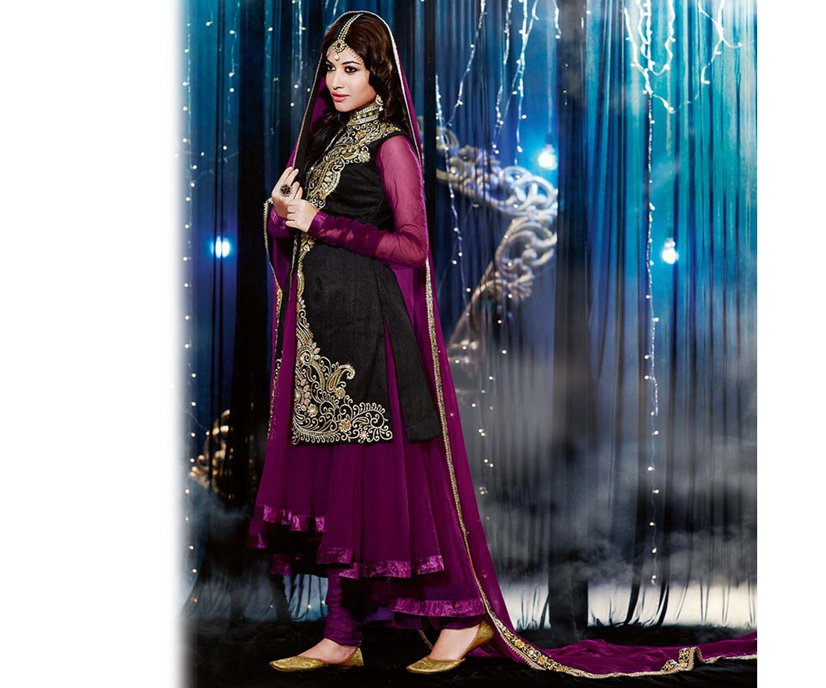 Latest Indian Designer Collection Jacket Styled Dresses Anarkali Suits for Girls 2014-2015 (23)