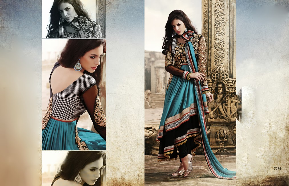 e8db8c2a192 Latest Indian Designer Collection Jacket Styled Dresses Anarkali Suits for Girls  2014-2015 (5)