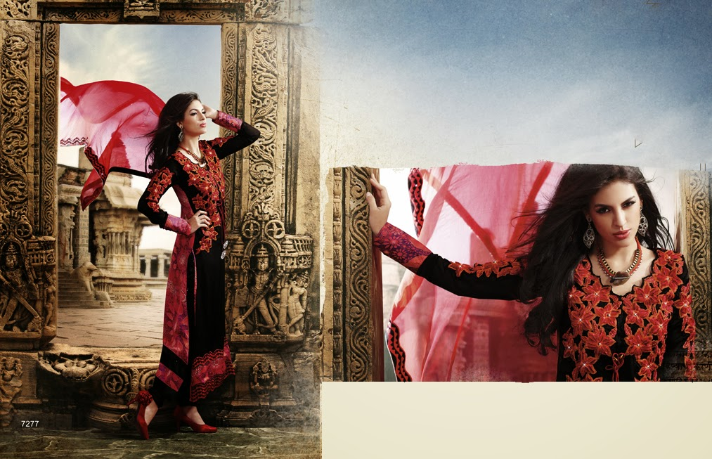 Latest Indian Designer Collection Jacket Styled Dresses Anarkali Suits for Girls 2014-2015 (7)