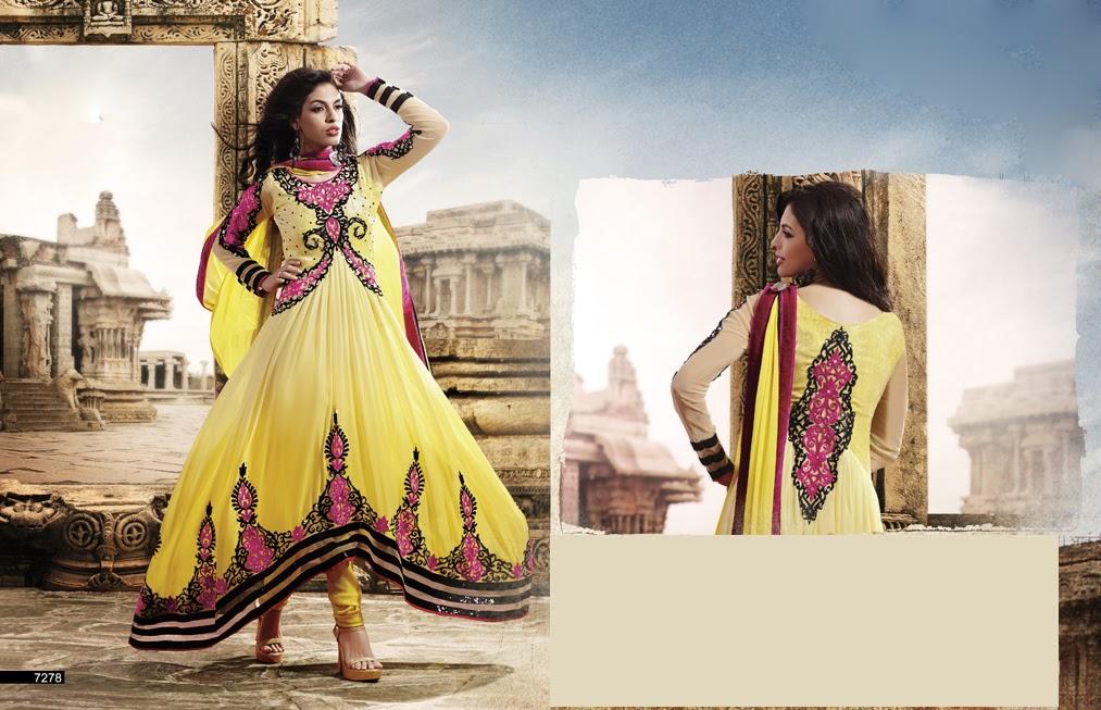06e24c7a3d0 Latest Indian Designer Collection Jacket Styled Dresses Anarkali Suits for Girls  2014-2015 (8)