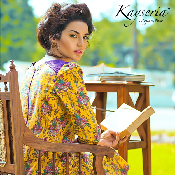 Latest Kayseria Winter Prints Best Shawls & Dresses Cambric Collection 2014-2015 (1)