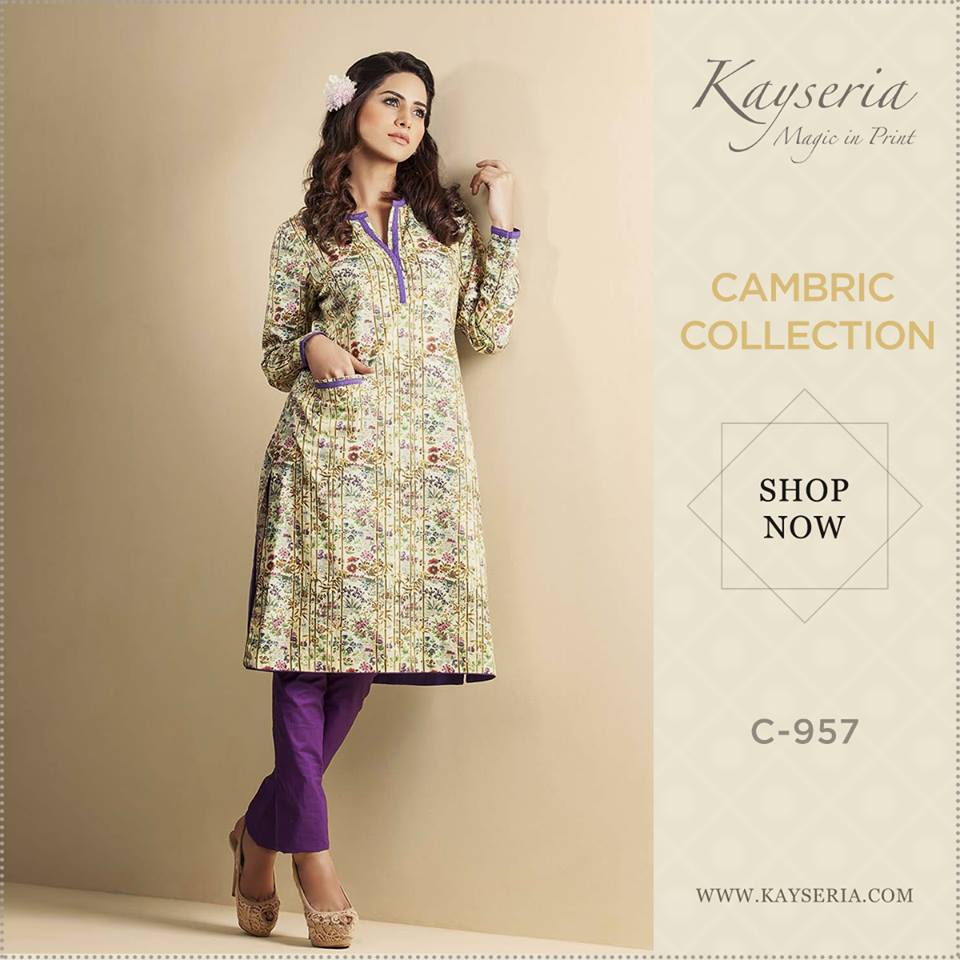 Latest Kayseria Winter Prints Best Shawls & Dresses Cambric Collection 2014-2015 (12)