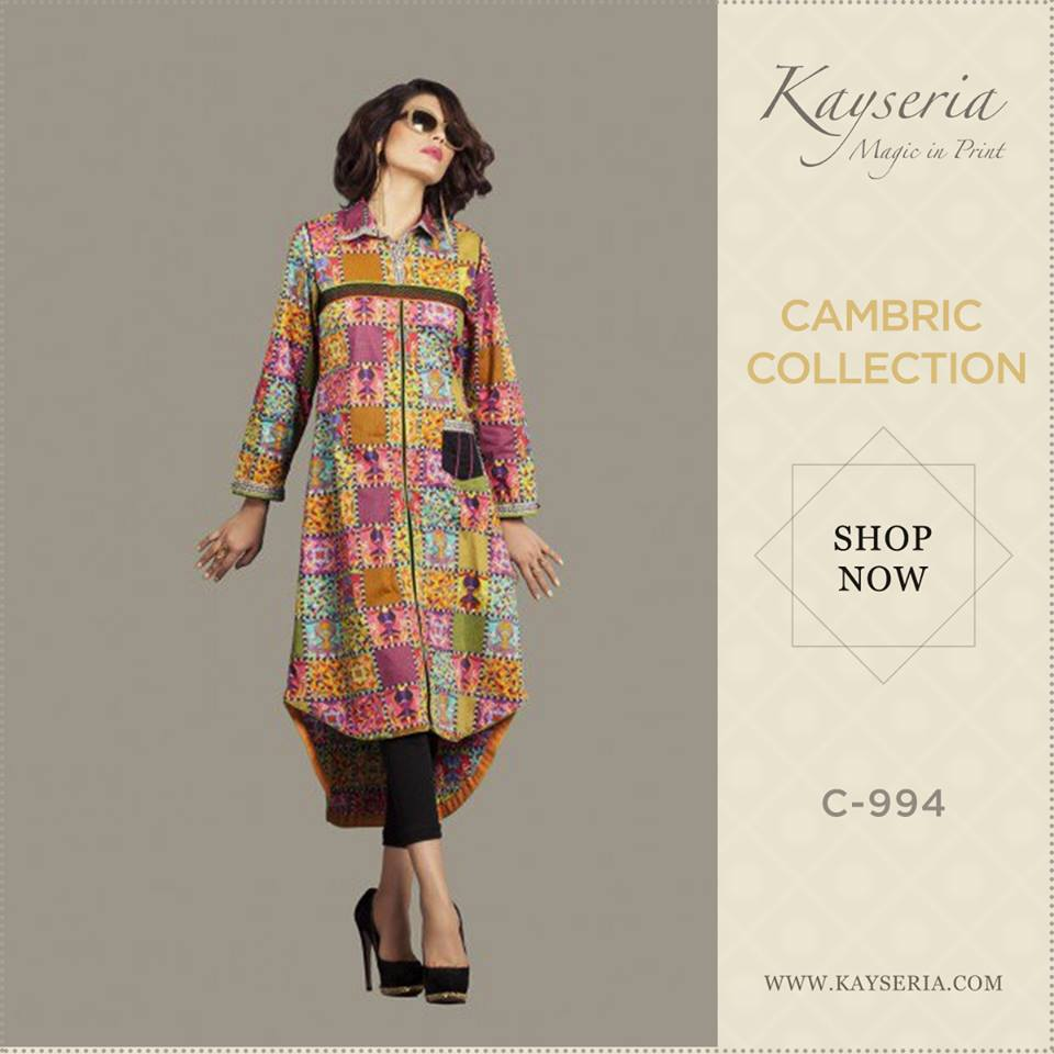 Latest Kayseria Winter Prints Best Shawls & Dresses Cambric Collection 2014-2015 (5)