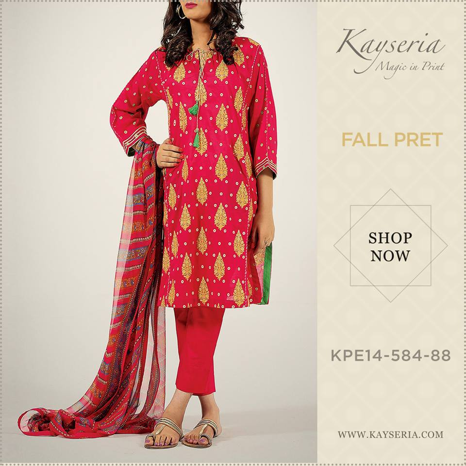 Latest Kayseria Winter Prints Best Shawls & Dresses Cambric Collection 2014-2015 (8)