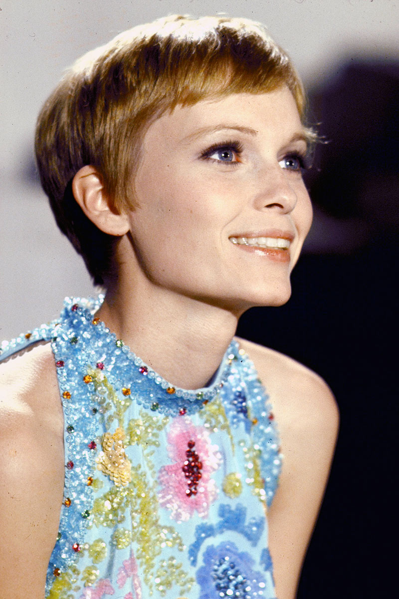 Mia Farrow's Pixie Crop Top 10 Most Popular Female Celebrity Hairstyles of all Time - Hit List