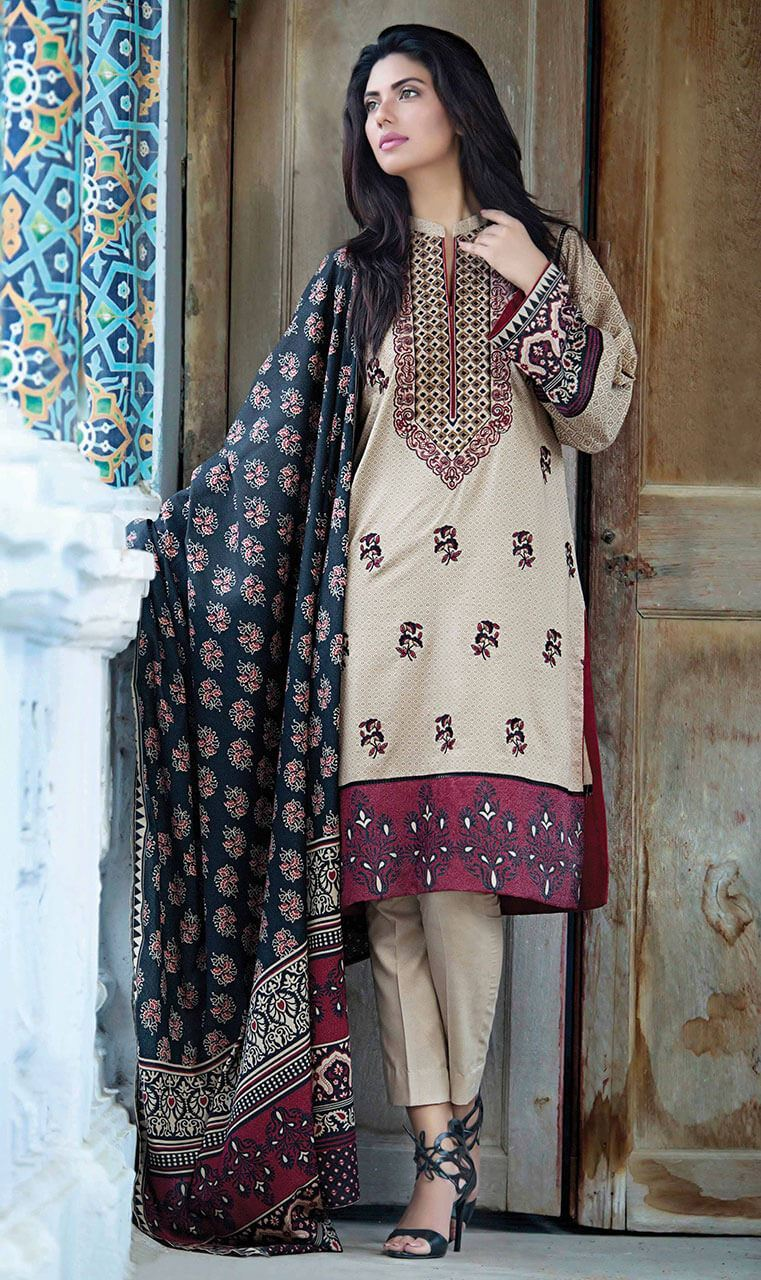 Latest Winter Dresses 2017-18 By Embroidered Printed