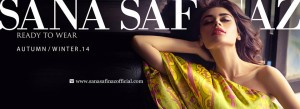 Sana Safinaz Autumn Winter Ready To Wear Dresses Collection 2014-15 for Women