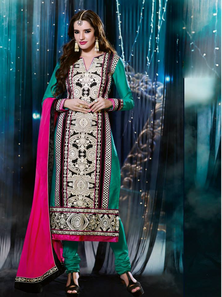 latest-Natasha-Couture-beautiful-party-wear-Anarkali-Suits-(2014-2015) (19)