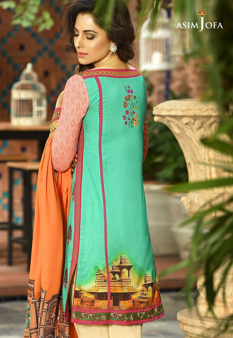 Asim Jofa Winter Shawl Dresses Collection 2017-2018