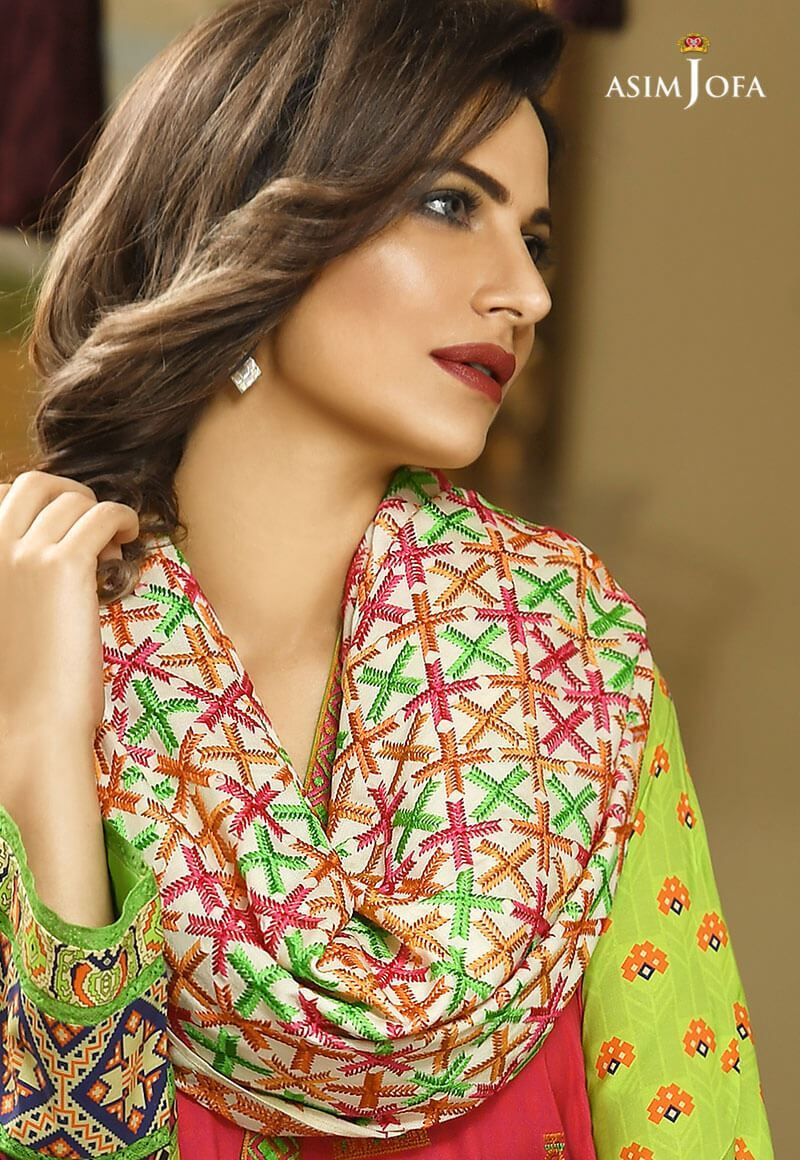 Asim Jofa Winter Shawl Dresses Collection 2017-2018 (11)