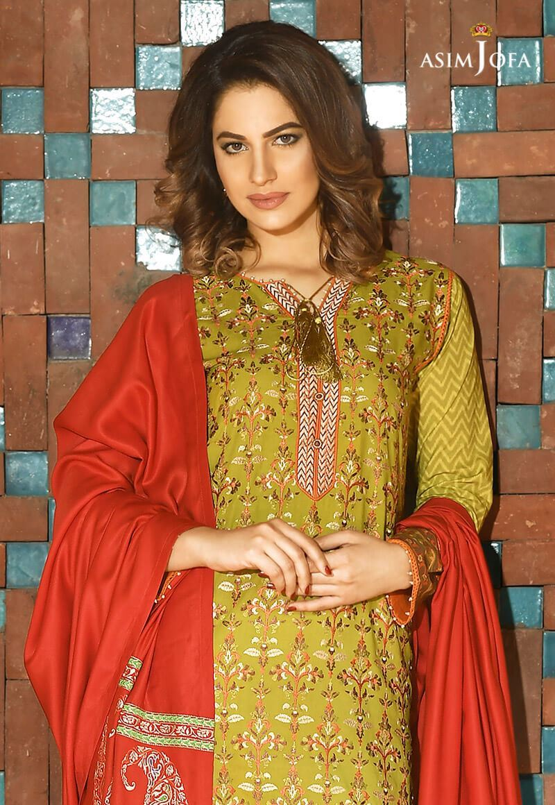 Asim Jofa Winter Shawl Dresses Collection 2017-2018 (12)