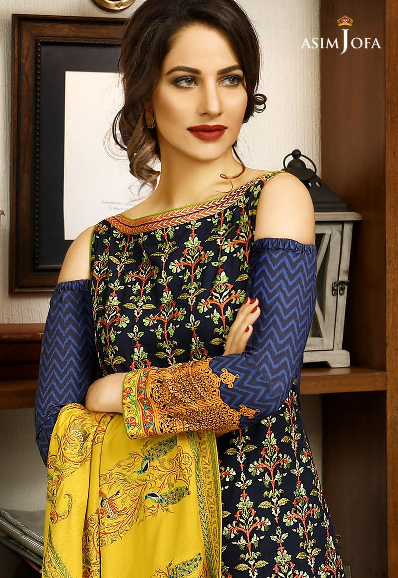 Asim Jofa Winter Shawl Dresses Collection 2017-2018 (15)