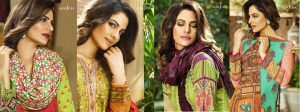 Asim Jofa Winter Shawl Dresses Collection 2017-2018