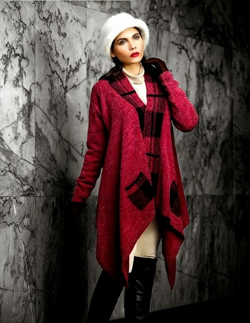 Bonanza Latest Winter Warmth Collection of Sweaters, Jackets & Coats 2014-2015 for Women & Girls (8)