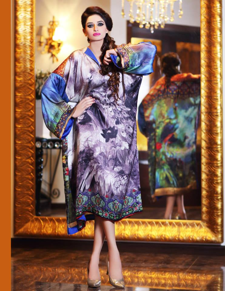 Hadiqa Kiani Winter Collection Linen & Karandi Dresses with Shawls for Women 2014-2015 (13)