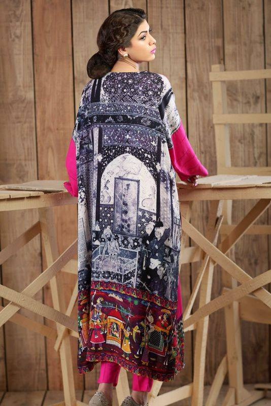 Hadiqa Kiani Winter Collection Linen & Karandi Dresses with Shawls for Women 2014-2015 (14)