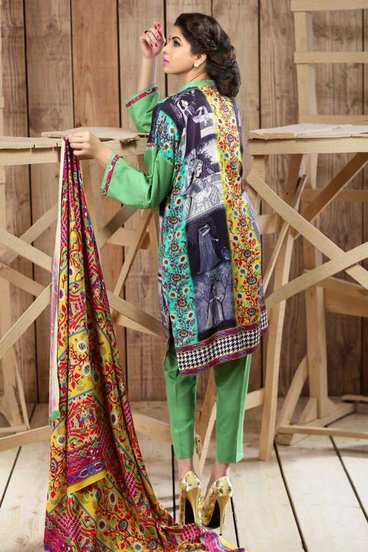 Hadiqa Kiani Winter Collection Linen & Karandi Dresses with Shawls for Women 2014-2015 (15)