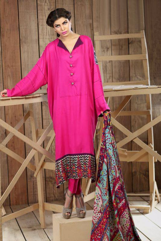 Hadiqa Kiani Winter Collection Linen & Karandi Dresses with Shawls for Women 2014-2015 (16)