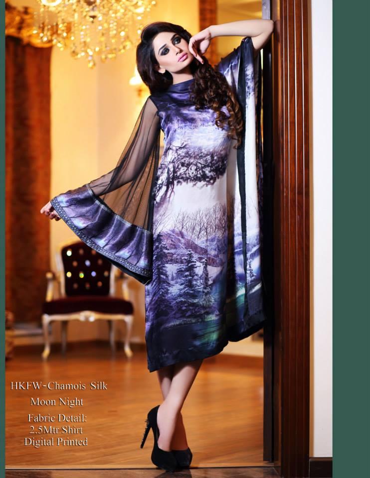 Hadiqa Kiani Winter Collection Linen & Karandi Dresses with Shawls for Women 2014-2015 (19)