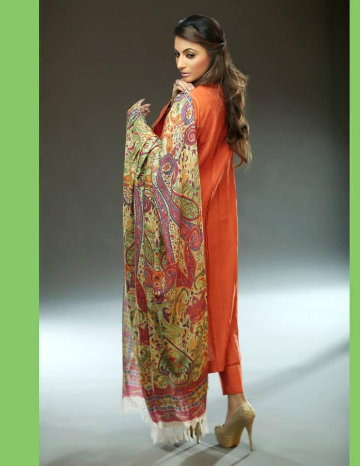 Hadiqa Kiani Winter Collection Linen & Karandi Dresses with Shawls for Women 2014-2015 (20)