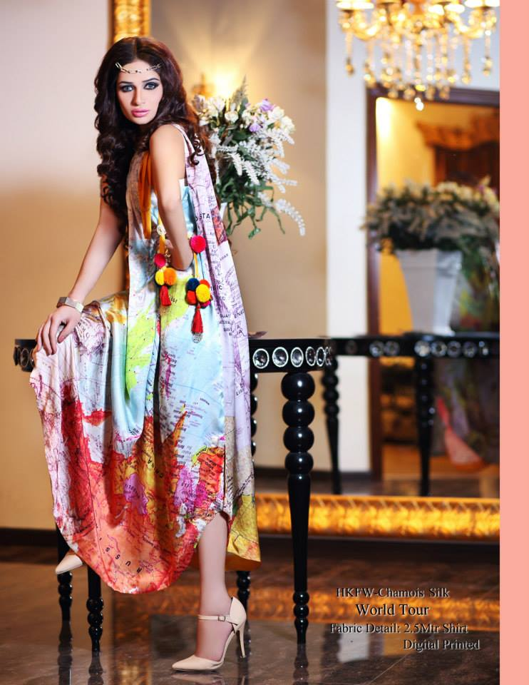 Hadiqa Kiani Winter Collection Linen & Karandi Dresses with Shawls for Women 2014-2015 (22)