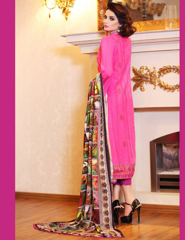 Hadiqa Kiani Winter Collection Linen & Karandi Dresses with Shawls for Women 2014-2015 (28)
