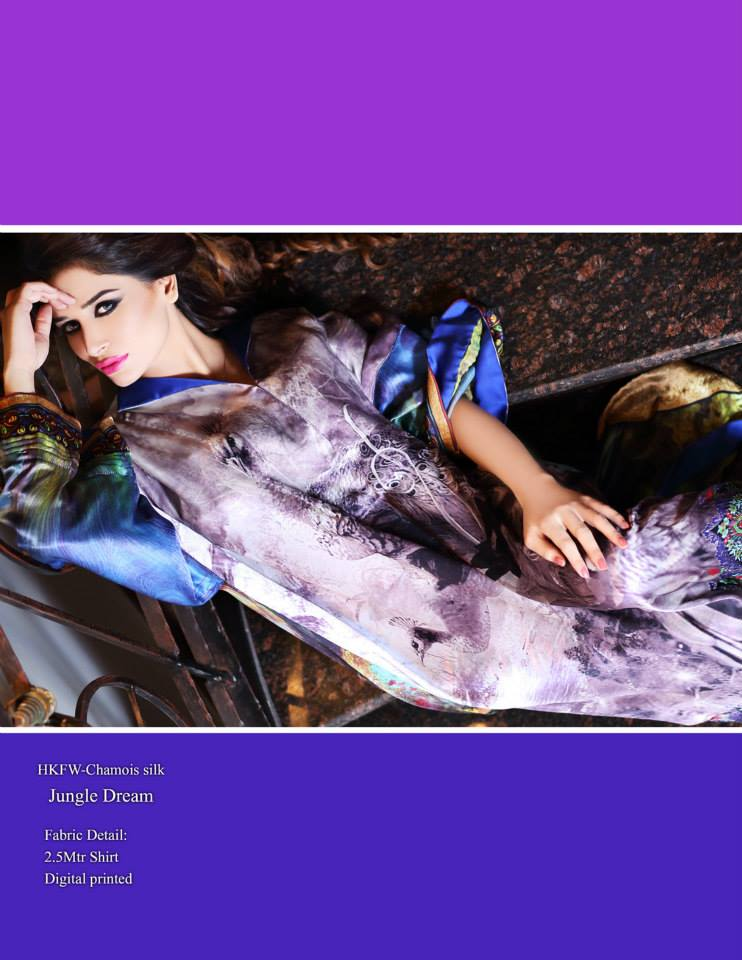 Hadiqa Kiani Winter Collection Linen & Karandi Dresses with Shawls for Women 2014-2015 (4)
