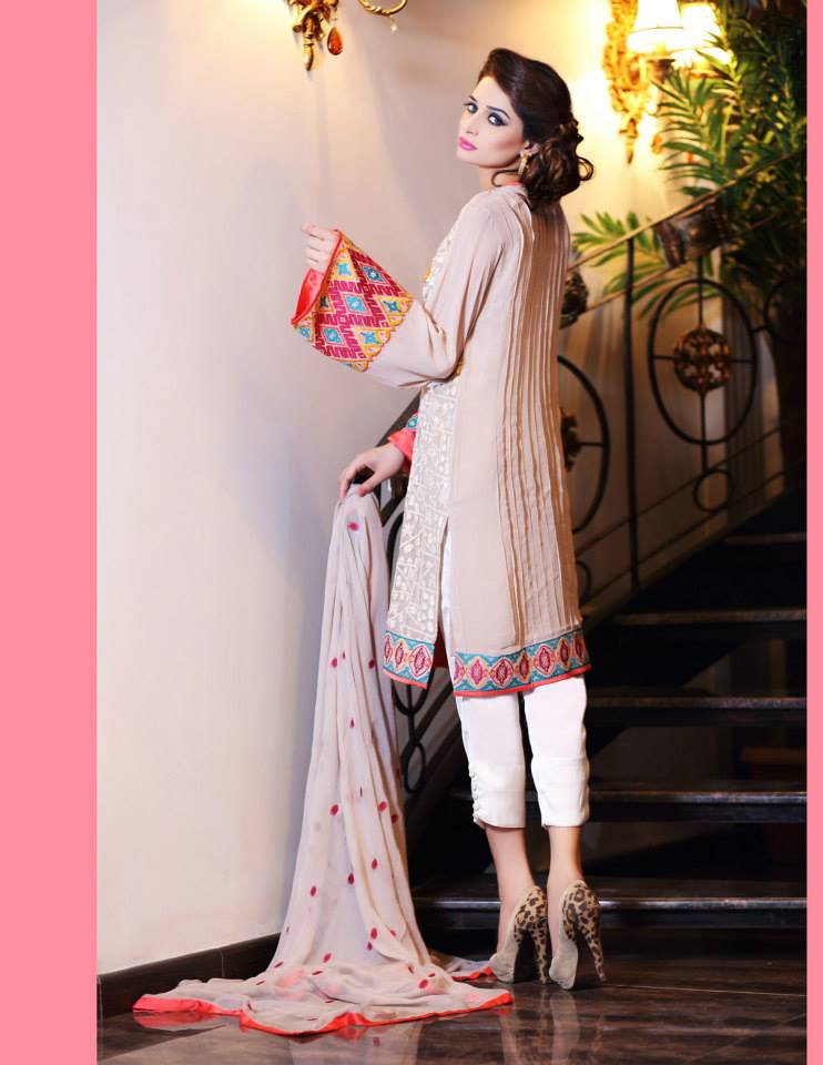 Hadiqa Kiani Winter Collection Linen & Karandi Dresses with Shawls for Women 2014-2015 (6)
