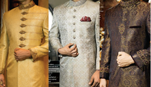 J. Latest Men Sherwanis Designs 2018-19 Groom Wedding Collection