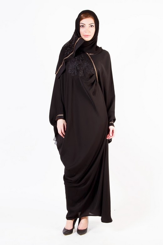Latest Arabian Abaya Designs with Hijab Collection for Women 2015-2016 (1)