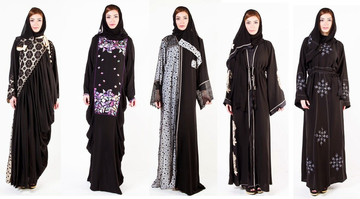 Latest Arabian Abaya Designs with Hijab Collection for Women 2015-2016 (15)