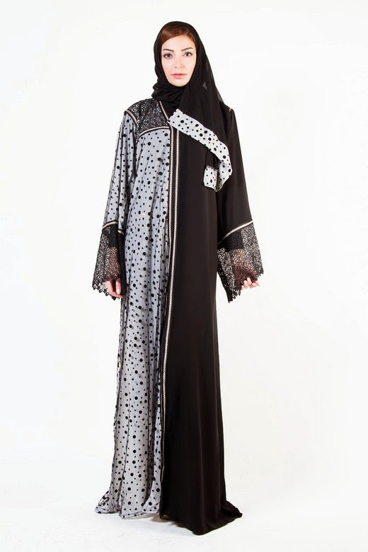 Latest Arabian Abaya Designs with Hijab Collection for Women 2015-2016 (16)