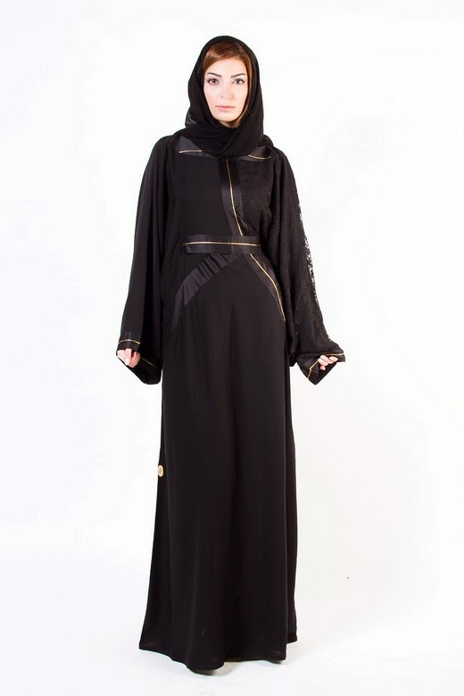 Latest Arabian Abaya Designs with Hijab Collection for Women 2015-2016 (17)