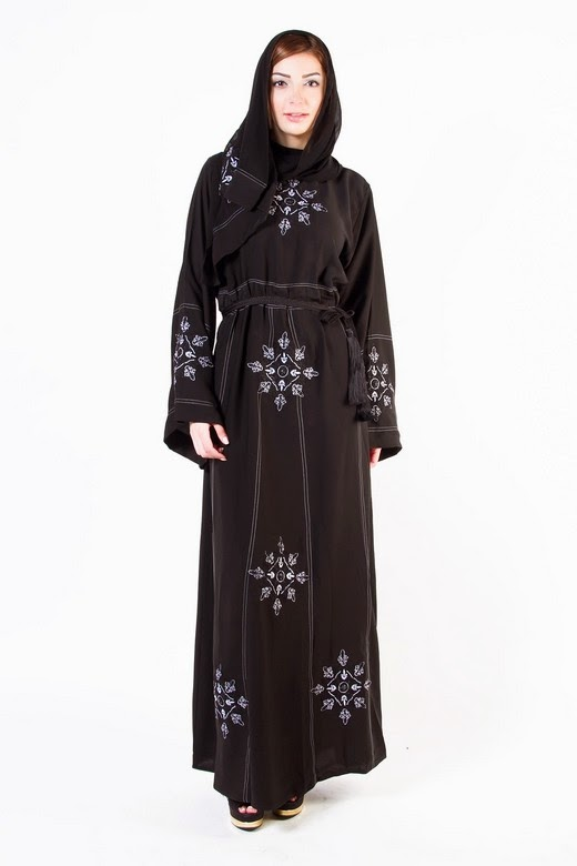Latest Arabian Abaya Designs with Hijab Collection for Women 2015-2016 (18)