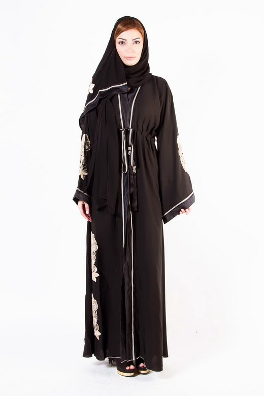 Latest Arabian Abaya Designs with Hijab Collection for Women 2015-2016 (2)