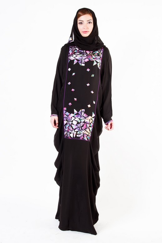 Latest Arabian Abaya Designs with Hijab Collection for Women 2015-2016 (3)