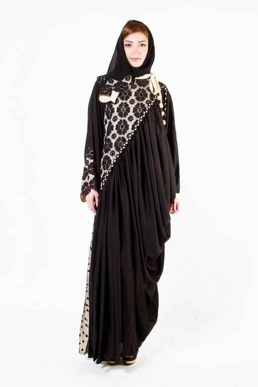 Latest Arabian Abaya Designs with Hijab Collection for Women 2015-2016 (4)