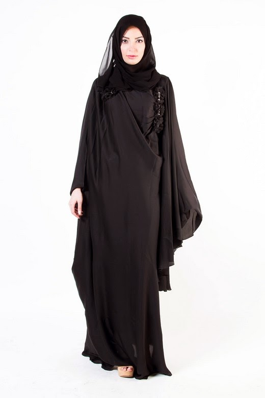 Latest Arabian Abaya Designs with Hijab Collection for Women 2015-2016 (5)