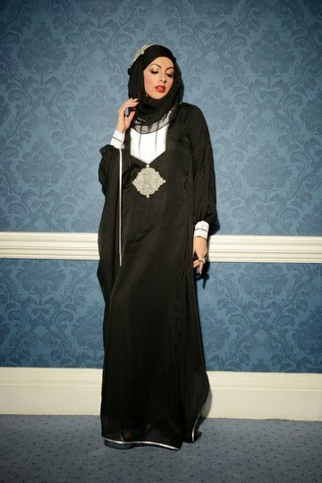 Latest Arabian Abaya Designs with Hijab Collection for Women 2015-2016 (9)