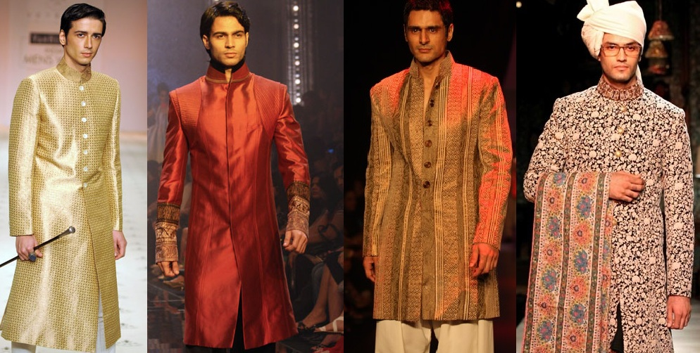 Latest Collections of Indian Top Designer Men Sherwani Designs for Weddings & Parties 2015