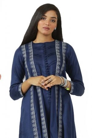 Latest EGO Winter Basic Embroidered Kurta & Pants Designs