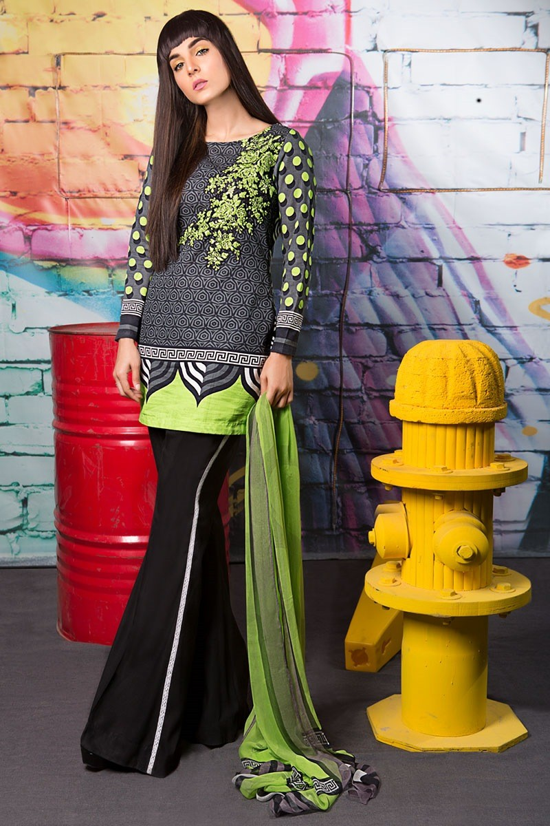 Latest Maria B Winter Printed Dresses Collection 2017 2018