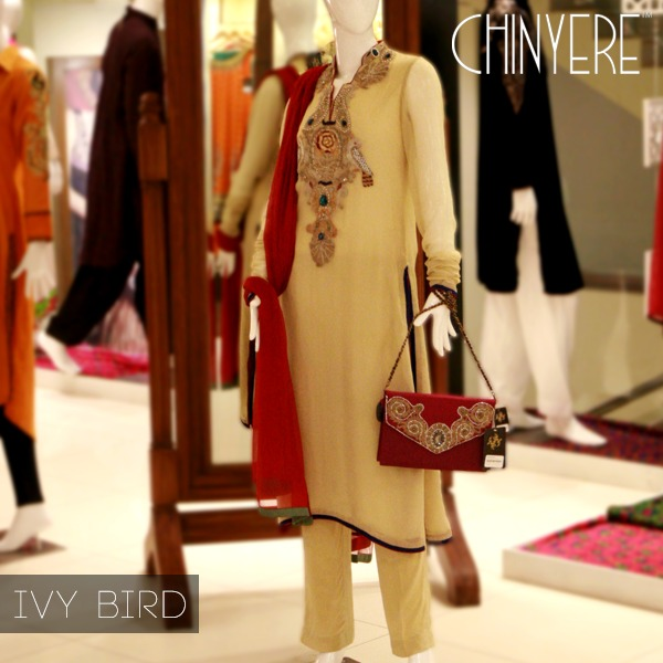 Latest Party Wear Fancy & Embroidered Dresses by Chinyere Party Wear Collection 2015-2016 (1)