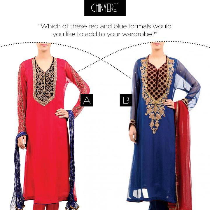 Latest Party Wear Fancy & Embroidered Dresses by Chinyere Party Wear Collection 2015-2016 (14)