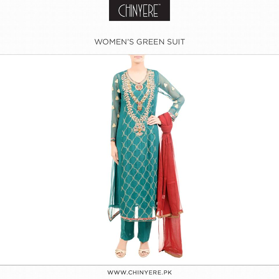Latest Party Wear Fancy & Embroidered Dresses by Chinyere Party Wear Collection 2015-2016 (17)